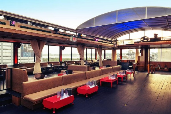Photo of NYC / Tri-State event space venue Hudson Terrace's Retractable Rooftop Space w/Water Views