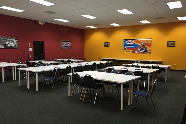Photo of San Francisco event space venue Umigo Indoor Kart Racing & Event Center's Track Side Room