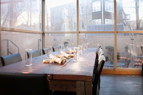 Photo of Chicago event space venue Table, Donkey and Stick's Greenhouse Dining Room