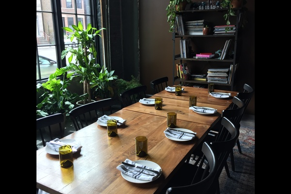 Photo of Chicago event space venue Split-Rail's Window Tables