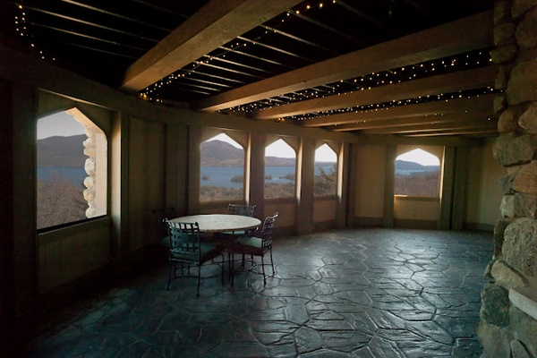 Photo of Upstate New York event space venue Highlands Castle's Highlands Castle Covered Terrace