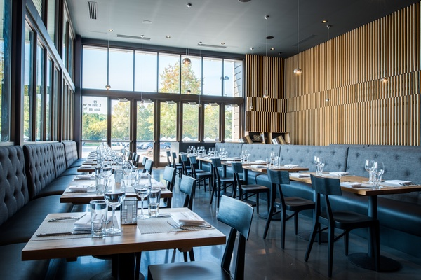 Photo of DC / MD / VA event space venue Silverspot Cinema Chapel Hill - Trilogy Restaurant's Main Dining Room - Half of Room