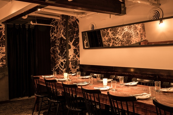 Photo of San Francisco event space venue Beretta's Downstairs Dining Room: 1 Table