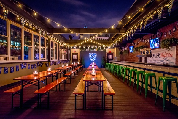 Photo of DC / MD / VA event space venue Sauf Haus Bier Hall & Garten's Biergarten (Roof-Deck)