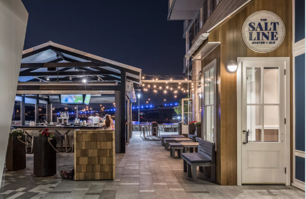Outdoor Bar and Patio event space at The Salt Line in Washington DC, Maryland, Virginia, DC Area