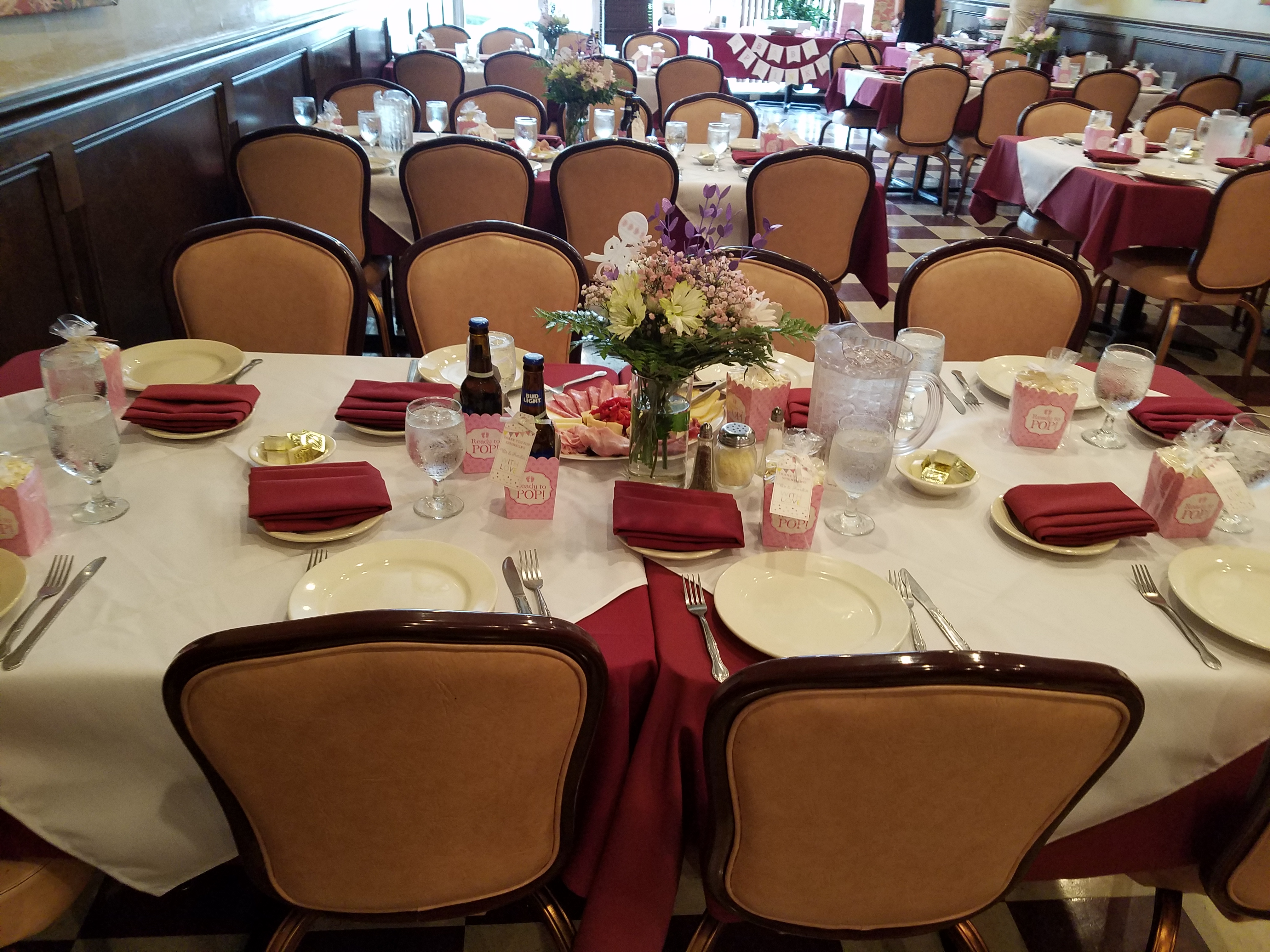 The Harvest room event space at Marcello's Trattoria in New Jersey