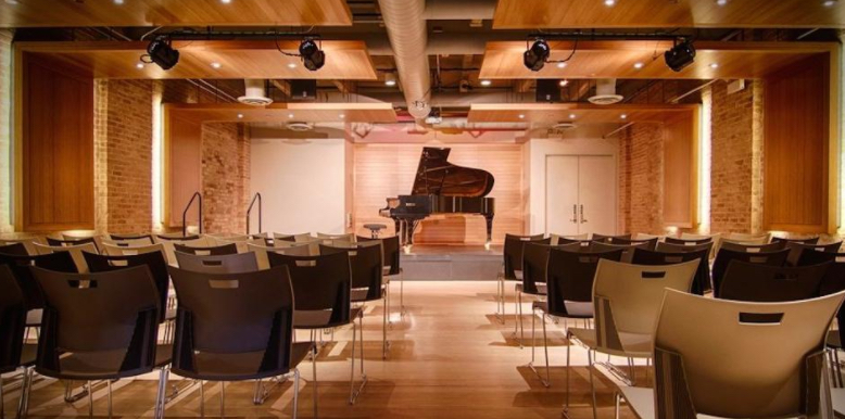Recital Hall event space at PianoForte Studios in Chicago, Chicagoland Area