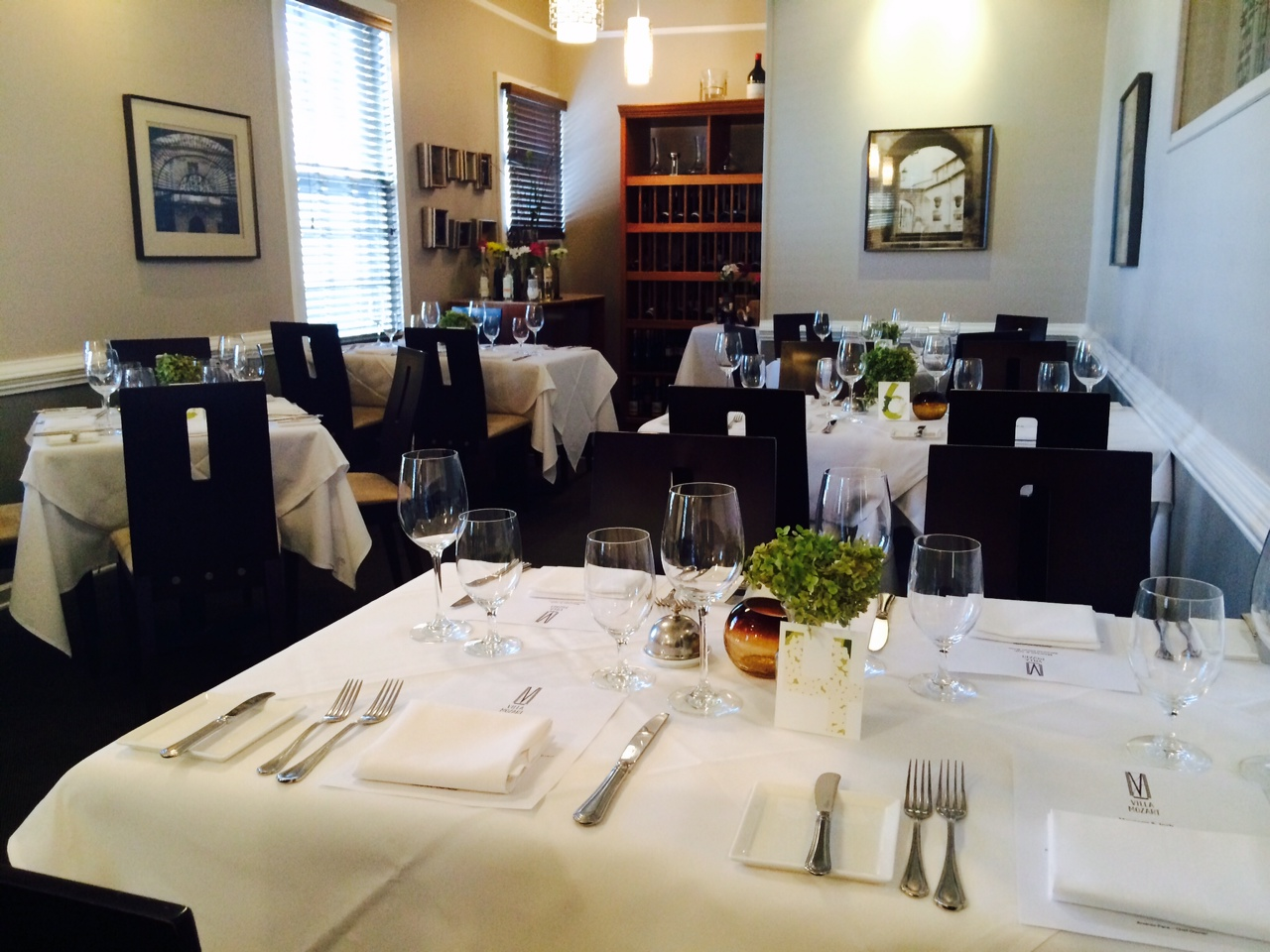 Main Dining Room event space at Villa Mozart Restaurant in Washington DC, Maryland, Virginia, DC Area
