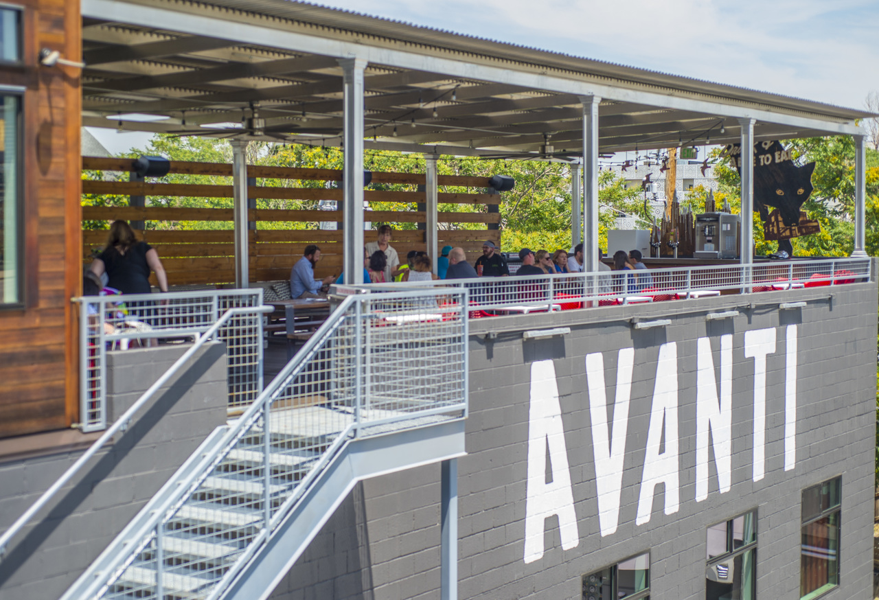 Full Covered Patio event space at Avanti F&B in denver