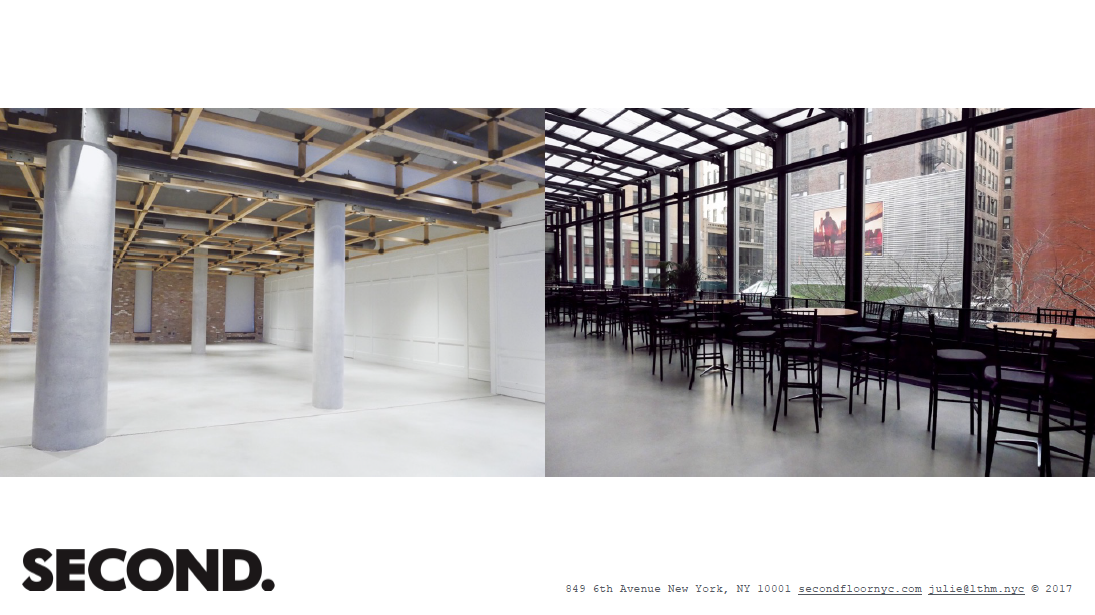 Second Floor event space in New York City, NYC, NY/NJ Area