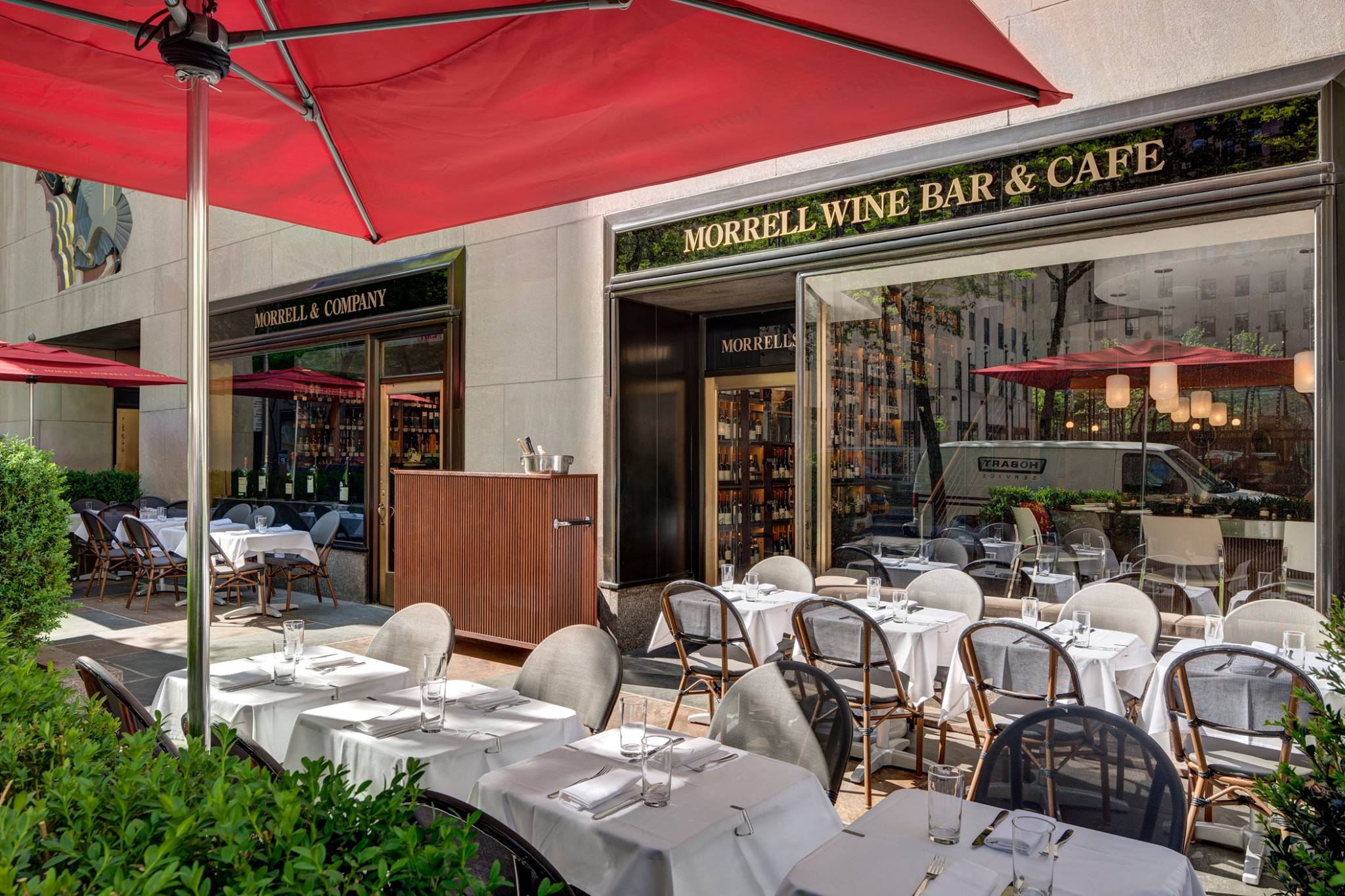 Patio event space at Morrell Wine Bar & Cafe in New York City, NYC, NY/NJ Area