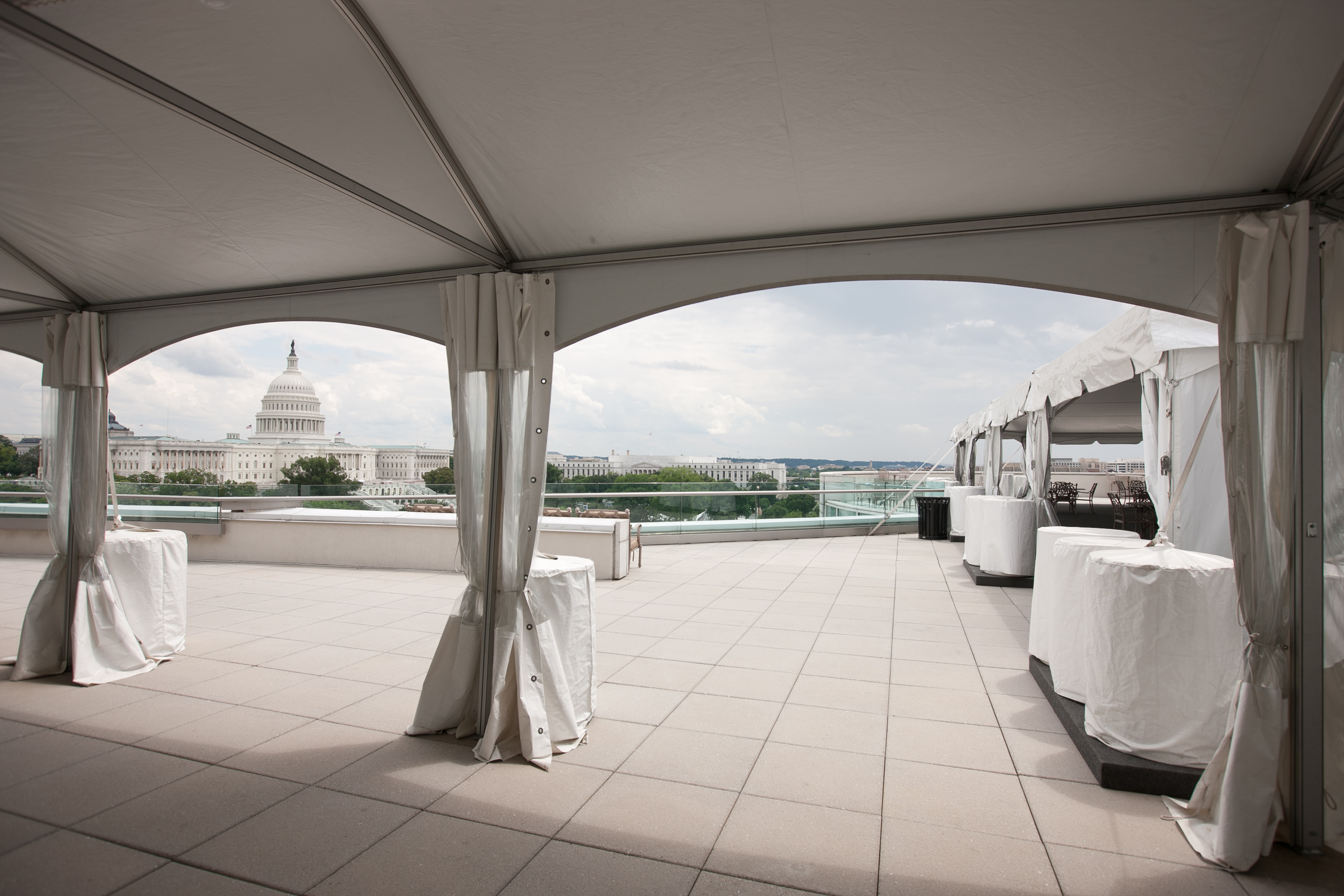 Rooftop Terrace event space at Charlie Palmer Steak DC in Washington DC, Maryland, Virginia, DC Area