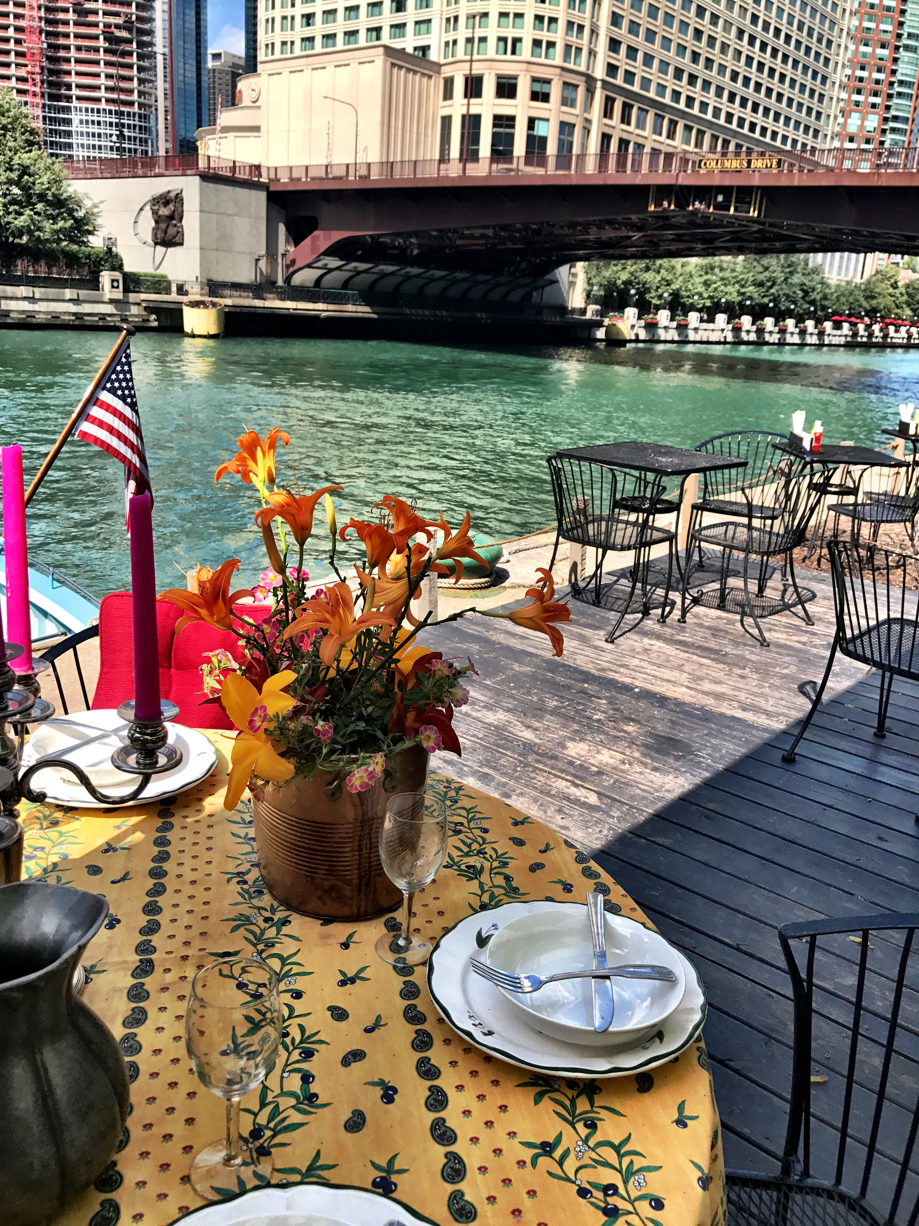 Private Tent event space at Cyrano's Cafe On The River Walk in Chicago, Chicagoland Area
