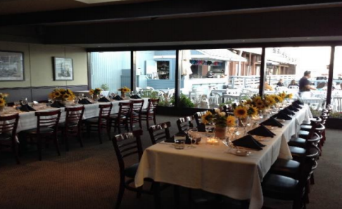 Waterfront Banquet Room event space at Sam's Anchor Cafe in Washington DC, Maryland, Virginia, DC Area