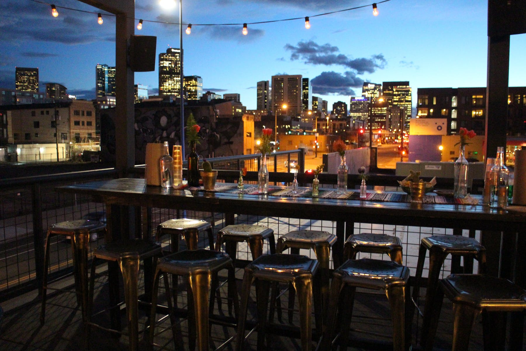 Rooftop event space at Los Chingones Rino in denver