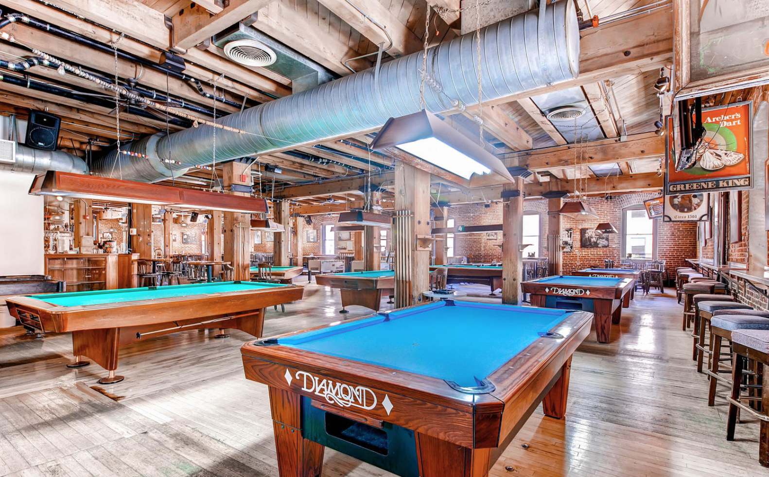 Billards Room event space at Wynkoop Brewing Company in denver
