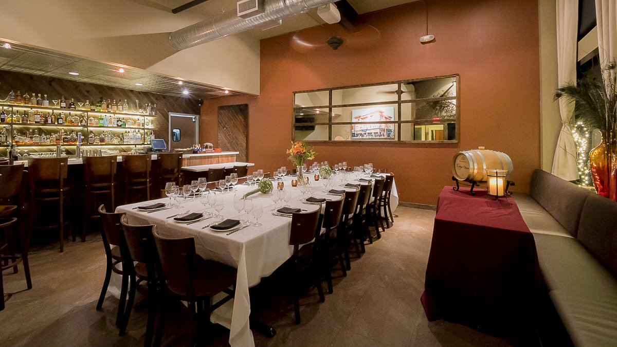 The Alexandria Room event space at Carpe Diem Napa in San Francisco, SF Bay Area, San Fran