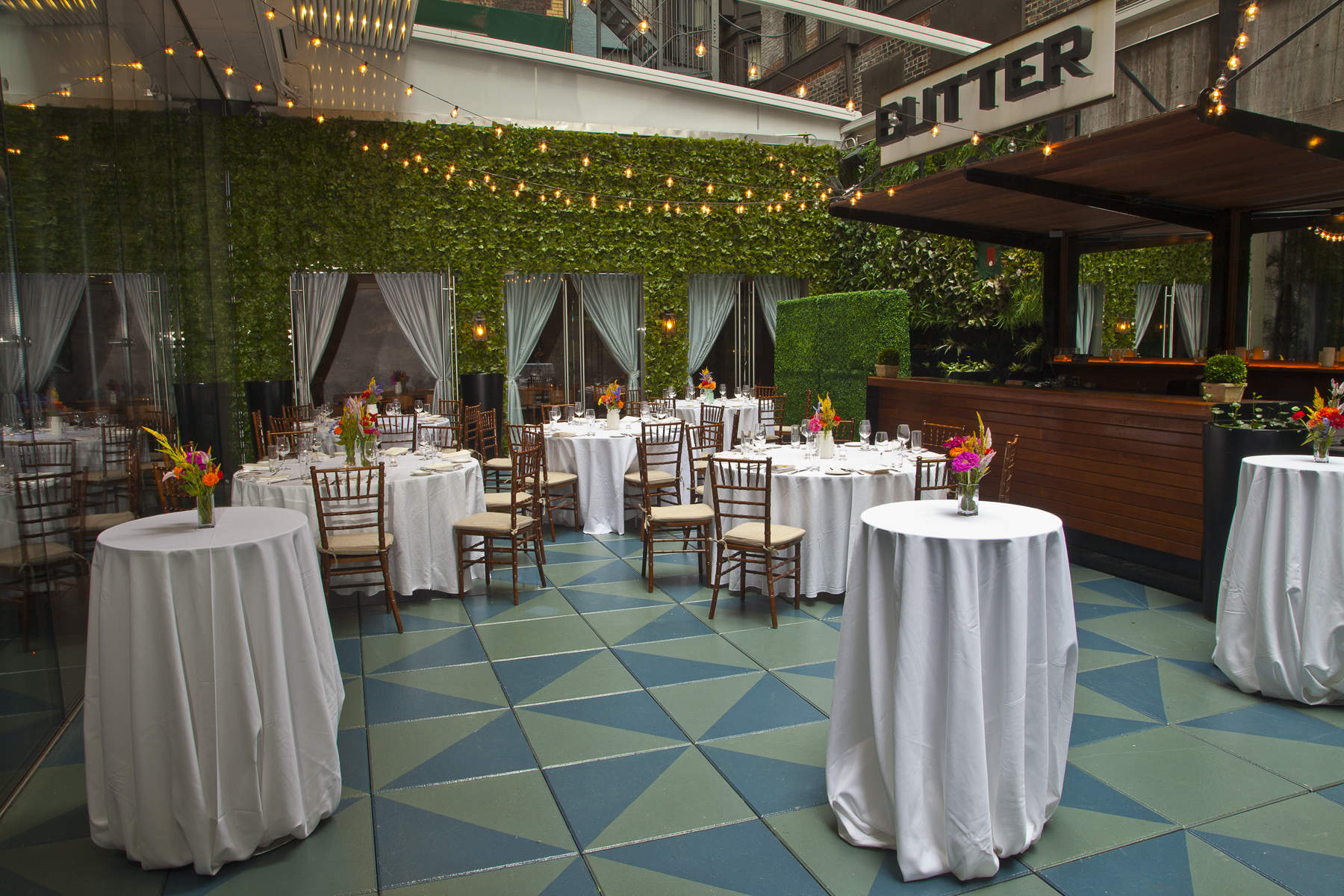 Garden event space at Butter Midtown in New York City, NYC, NY/NJ Area