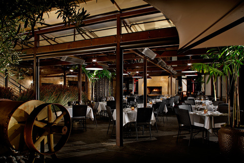 The Enclosed Piazza event space at EPIC Steak in San Francisco, SF Bay Area, San Fran
