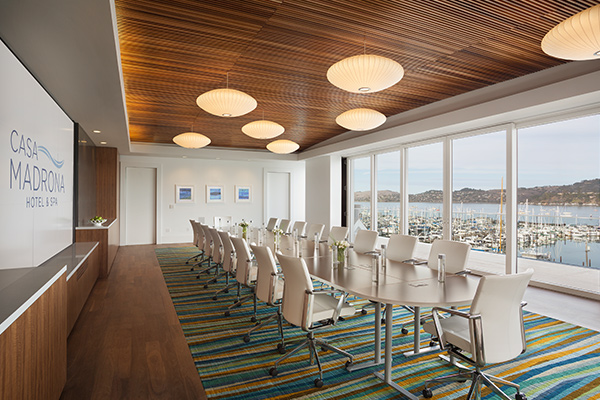 Junto event space at Casa Madrona Hotel & Spa in San Francisco, SF Bay Area, San Fran