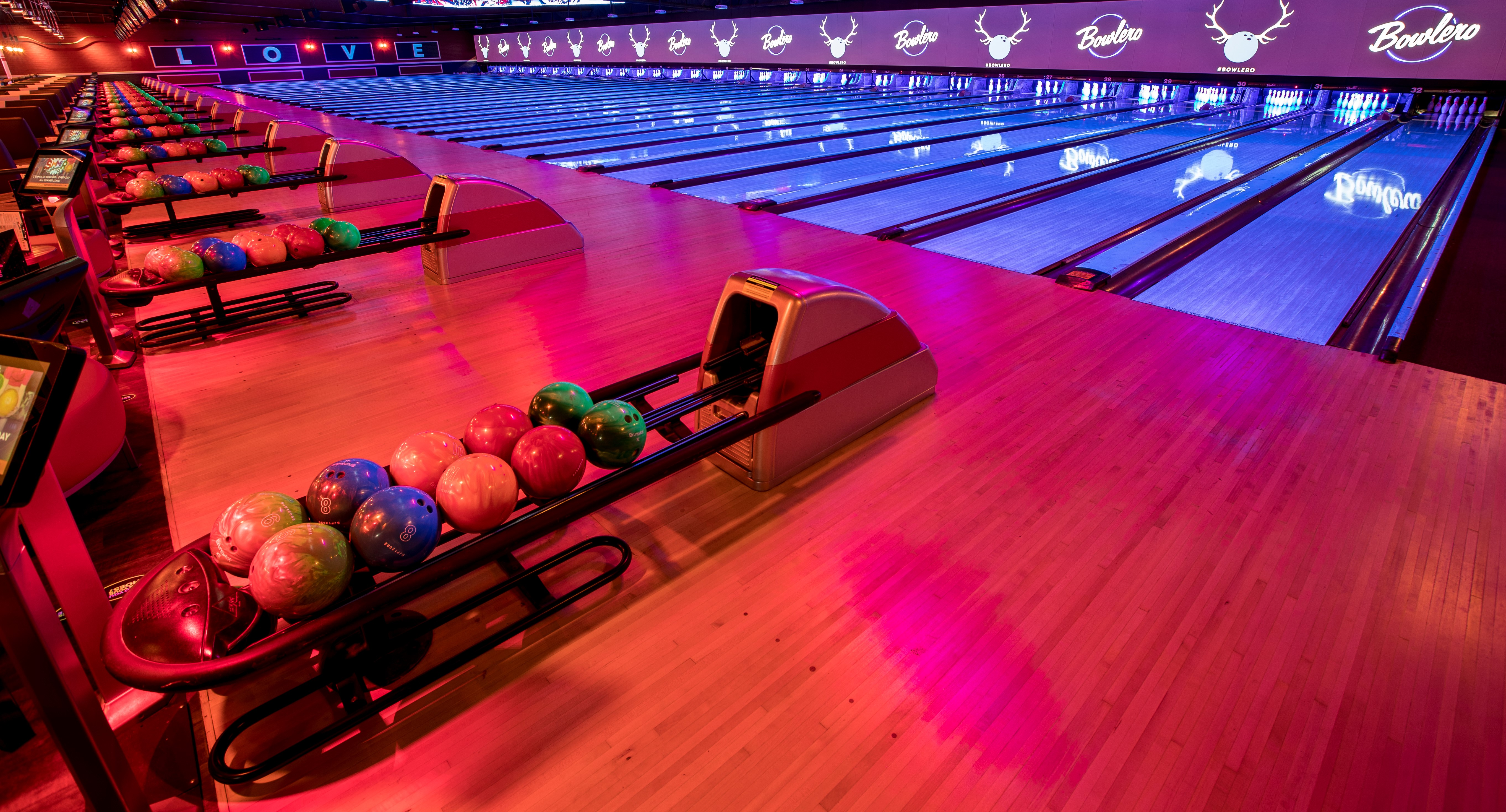 The King Pin event space at Bowlero San Jose in Bay Area