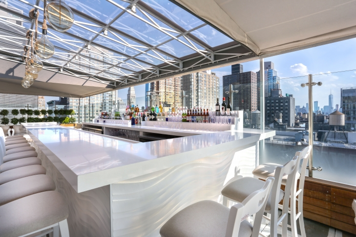 Mykonos Blue Rooftop event space at Hotel Hayden in New York City, NYC, NY/NJ Area
