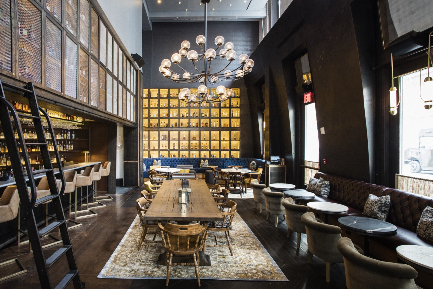 Photo #7 Library of Distilled Spirits at Bowery Road Restaurant