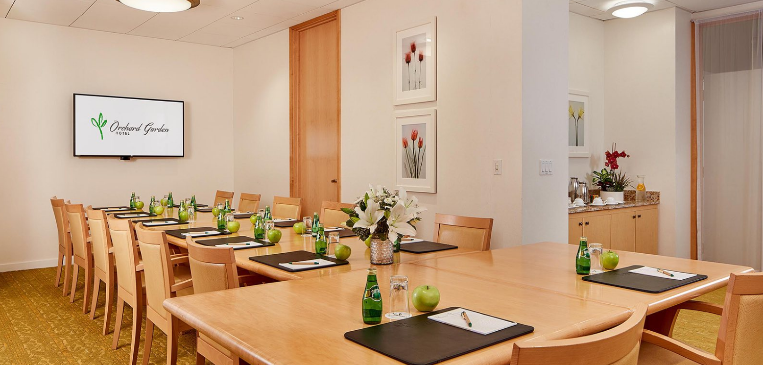 Executive Boardroom event space at Orchard Garden Hotel in San Francisco, SF Bay Area, San Fran