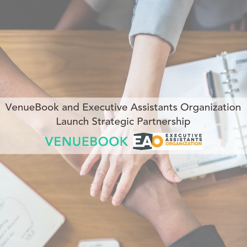 VenueBook and Executive Assistants Organization Launch Strategic Partnership