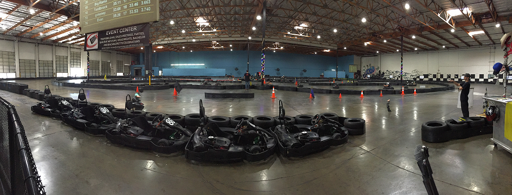 GoKart Race Track event space at Umigo Indoor Kart Racing & Event Center in San Francisco, SF Bay Area, San Fran