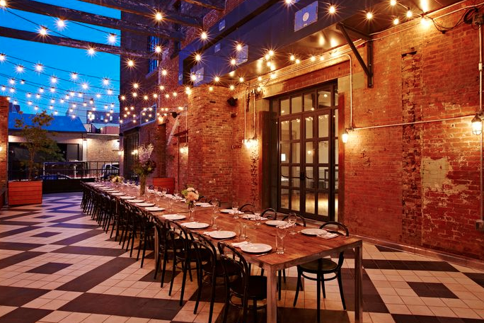 GARDEN TERRACE event space at Wythe Hotel in New York City, NYC, NY/NJ Area