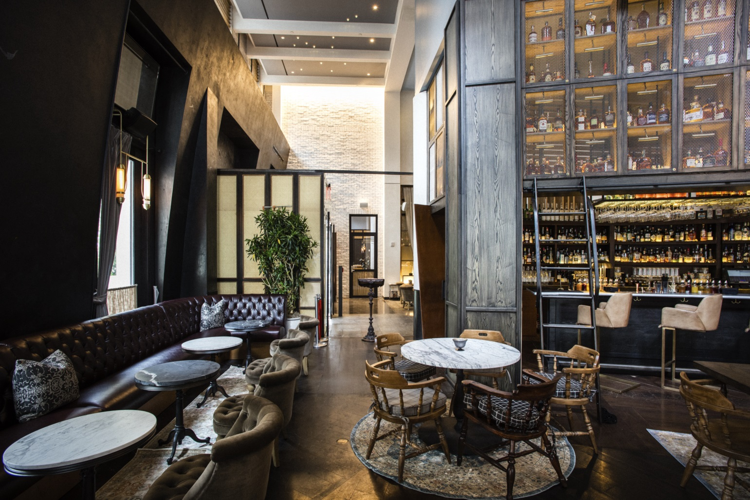 Photo #6 Library of Distilled Spirits at Bowery Road Restaurant