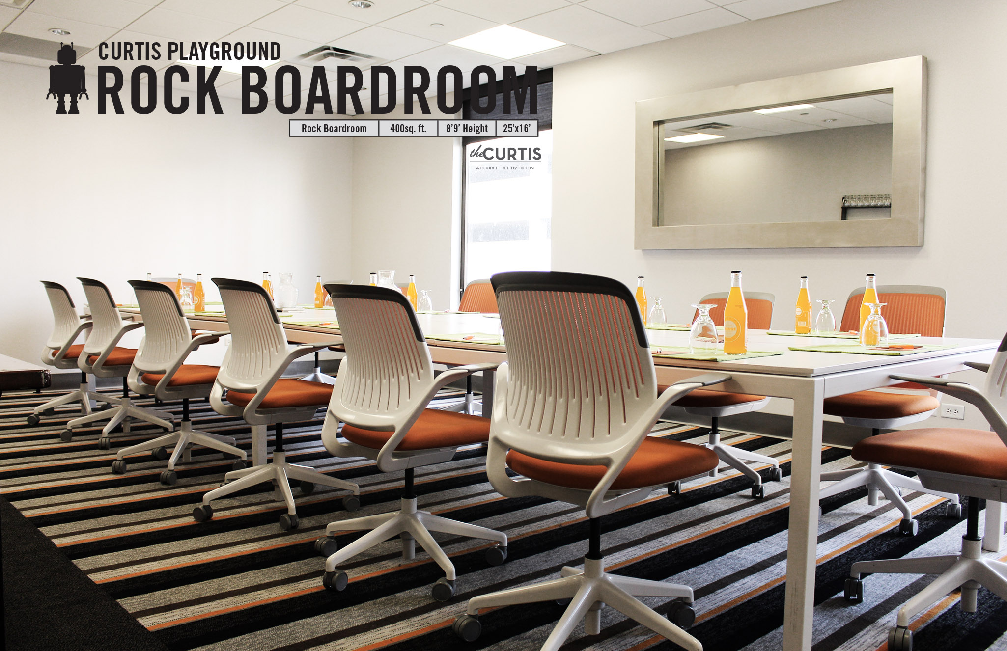 Photo #10 Rock Boardroom at theCURTIS -a Doubletree by Hilton