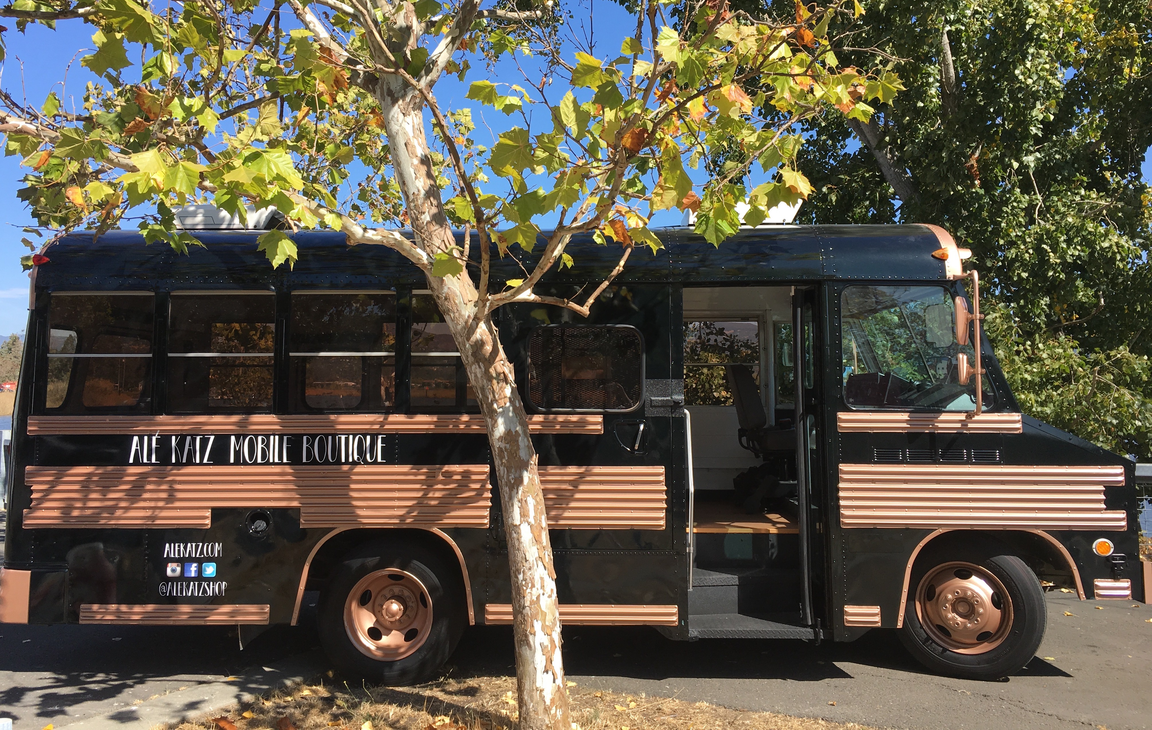 Renovated Bus event space at Ale Katz Mobile Boutique in Bay Area