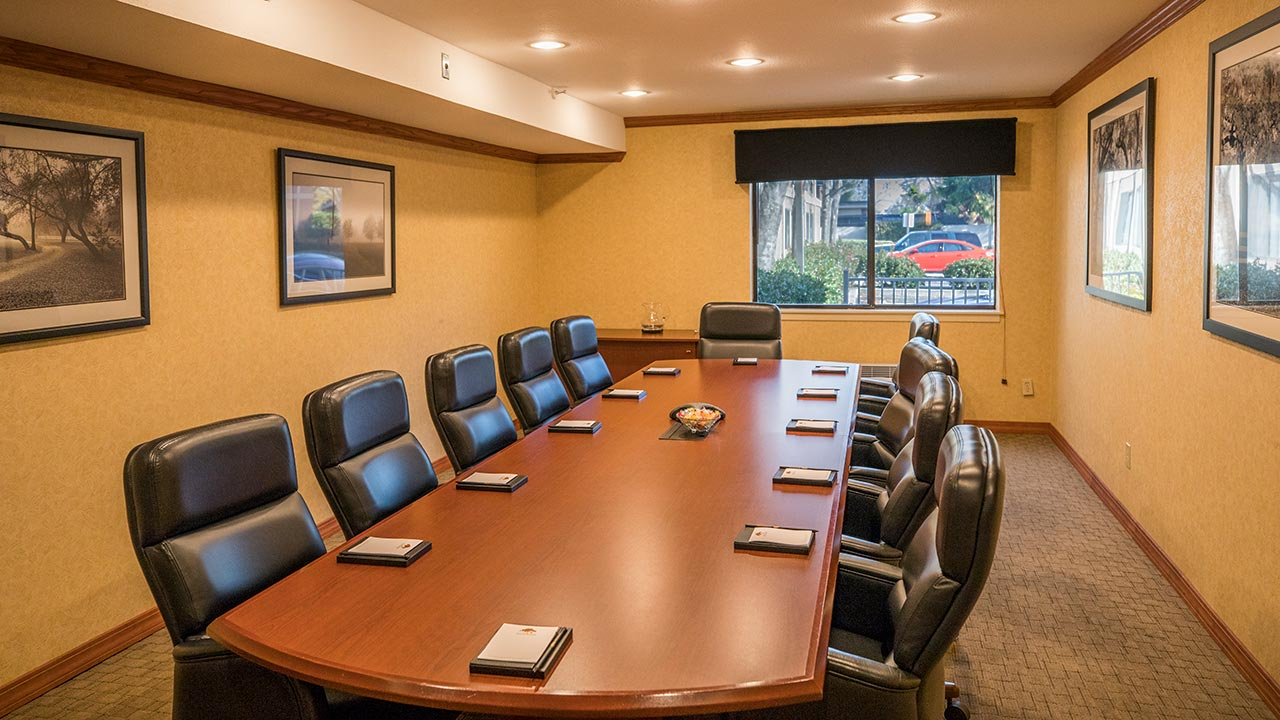 Executive Boardroom event space at Maple Tree Inn in SF