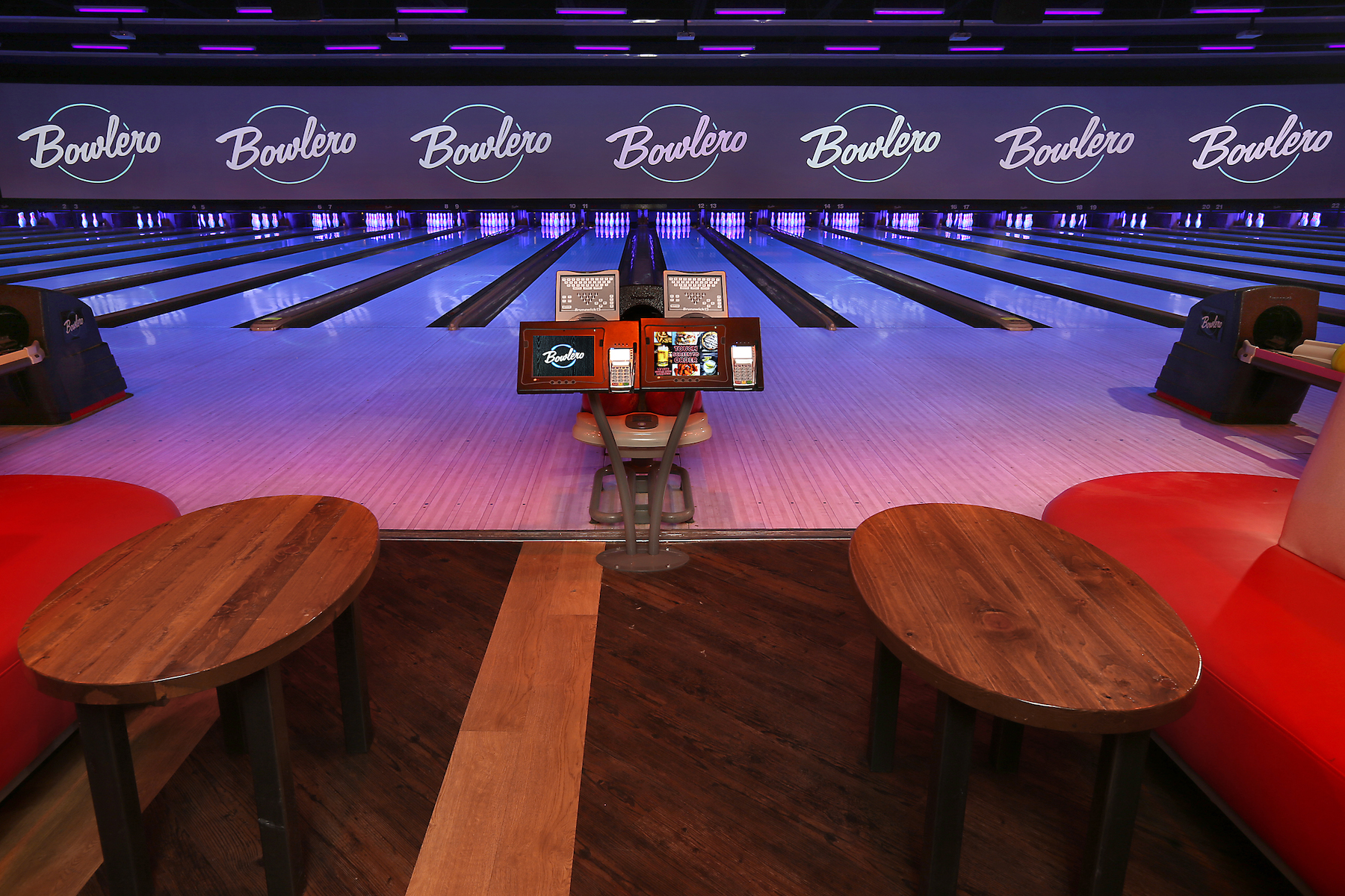 The Kingpin event space at Bowlero Romeoville in Chicago, Chicagoland Area