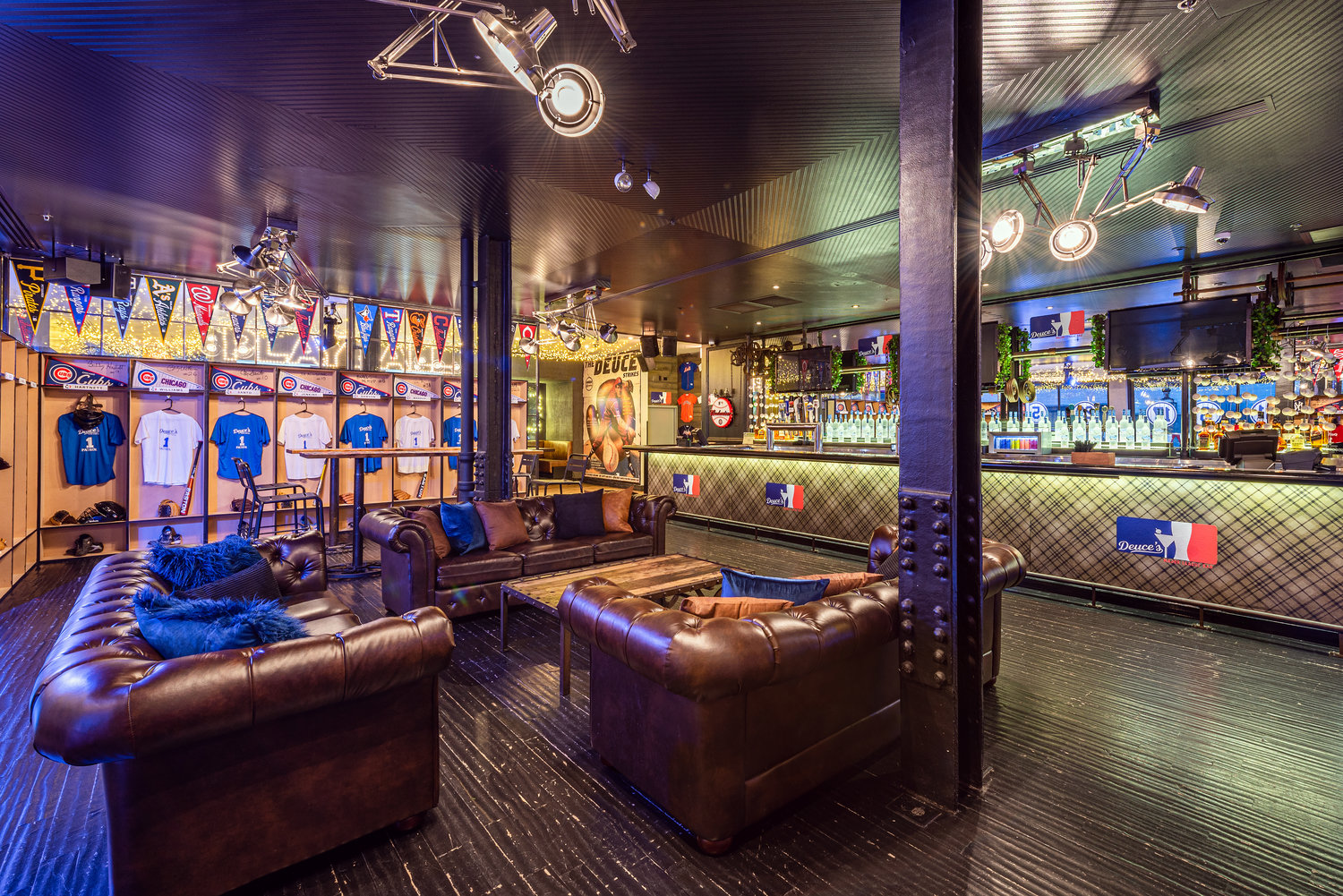 Locker Room event space at Deuce's Major League Bar in Chicago, Chicagoland Area