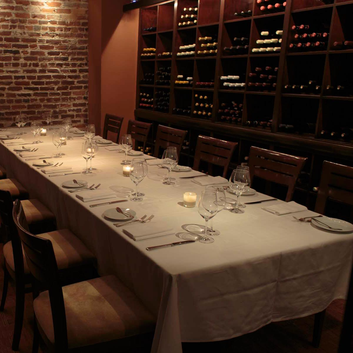 Wine Room event space at Jardinière in San Francisco, SF Bay Area, San Fran