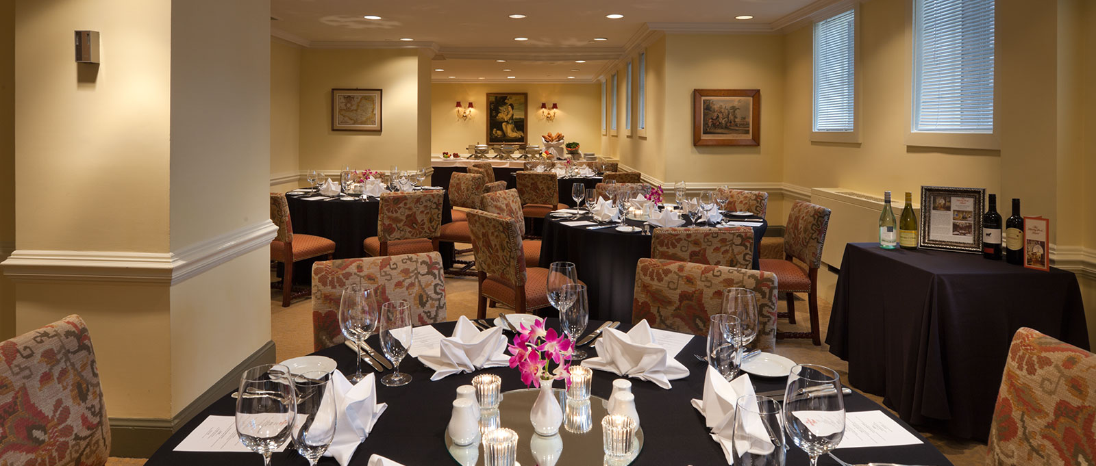 Front Parlor event space at Henley Park Hotel in Washington DC, Maryland, Virginia, DC Area