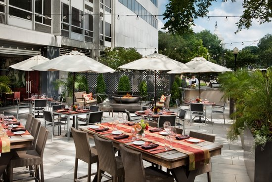 Outdoor Patio event space at Art and Soul in Washington DC, Maryland, Virginia, DC Area