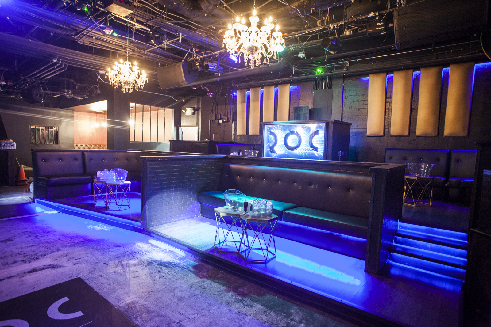 The Club Level  event space at The Roc Bar & Nightclub  in SF