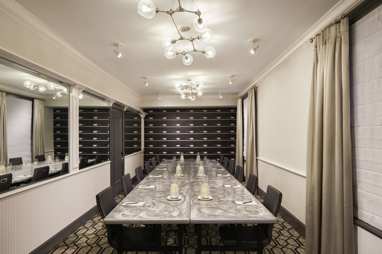 The Caruso Room event space at Villa Florence Hotel in San Francisco, SF Bay Area, San Fran