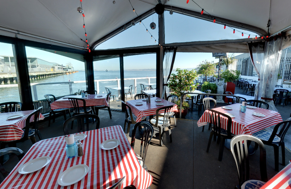 Waterside Bar event space at Pier 23 Cafe in SF