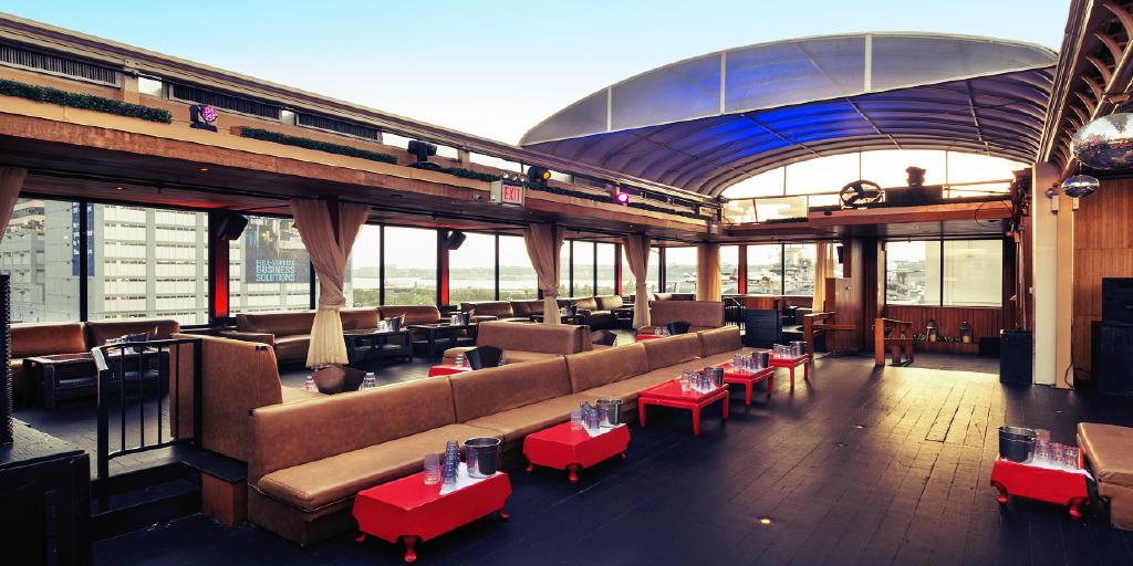 Retractable Rooftop Space w/Water Views event space at Hudson Terrace in New York City, NYC, NY/NJ Area