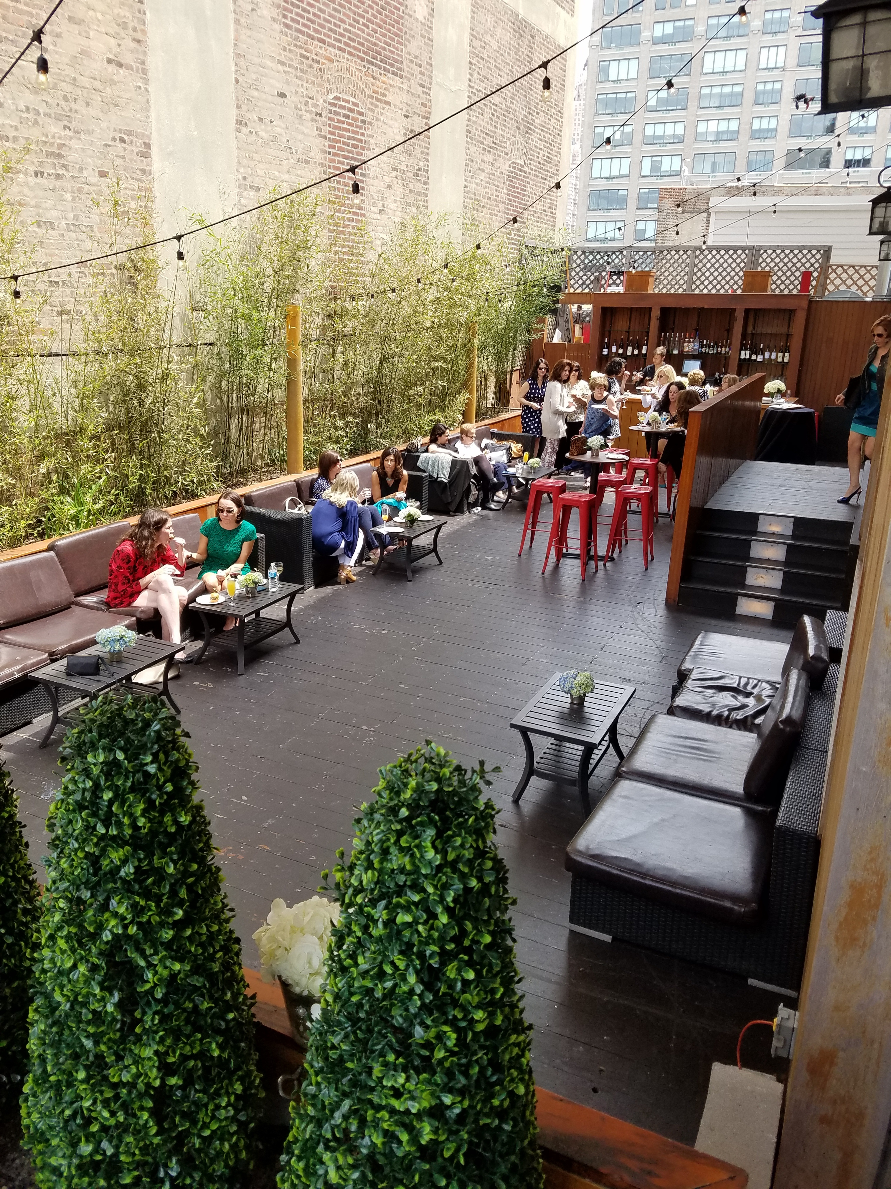 Photo #9 The Garden Terrace (Outdoor Space with Sound & Bar) at Hudson Terrace