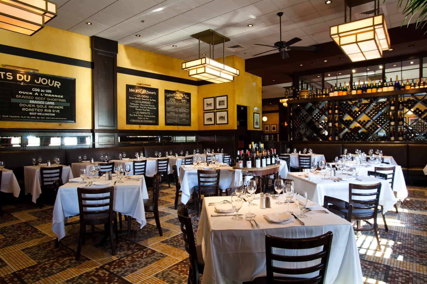 The Left Bank event space at Mon Ami Gabi Bethesda in Washington DC, Maryland, Virginia, DC Area