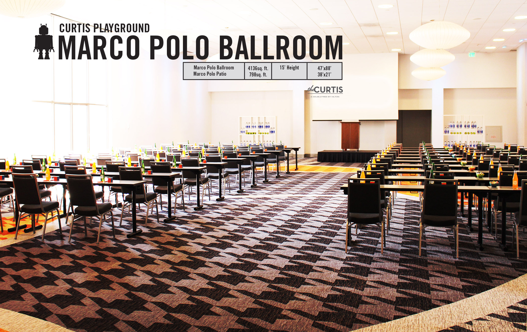 Photo #6 Marco Polo Ballroom at theCURTIS -a Doubletree by Hilton