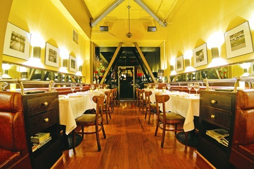 Main  Dining Room - Buyout event space at Cafe Claude in San Francisco, SF Bay Area, San Fran