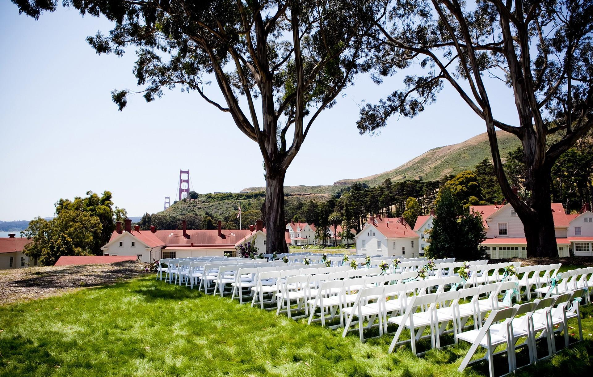 Mission Blue Lawn event space at Cavallo Point Lodge at Golden Gate in San Francisco, SF Bay Area, San Fran