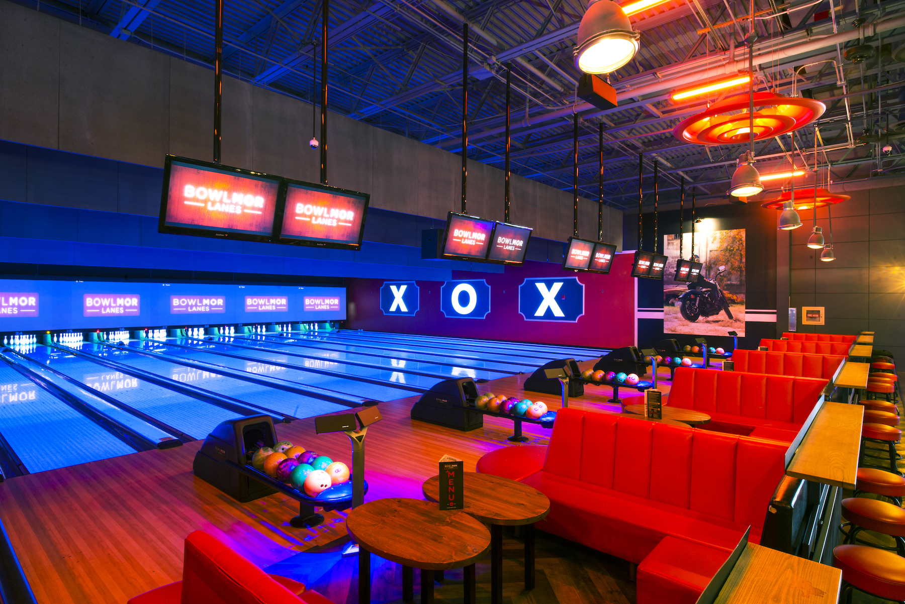 The Kingpin  event space at Bowlmor Chelsea Piers in New York City, NYC, NY/NJ Area